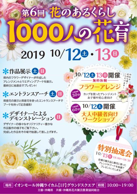 1000人の花育