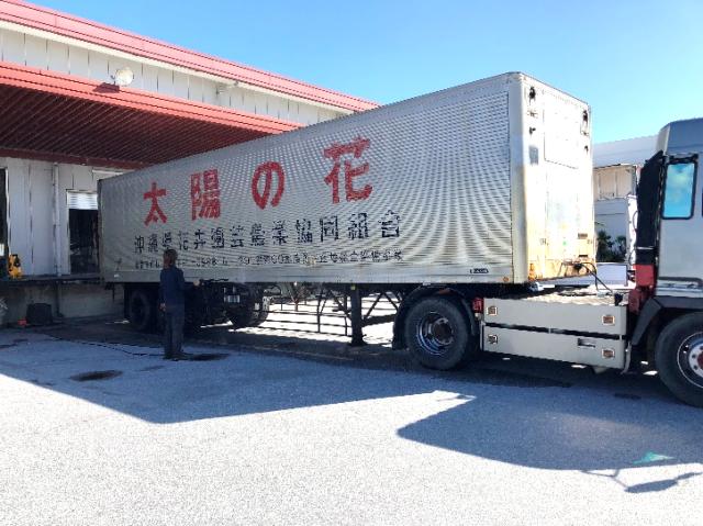 トラック洗車①