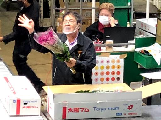 県花卉初セリ③